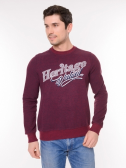 Мужской свитер Бордовый-Темно-синий