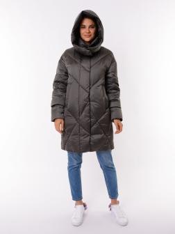 Женская зимняя куртка СЕРО-ЗЕЛЕНЫЙ