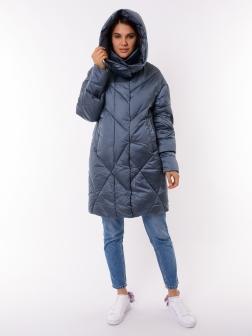 Женская зимняя куртка ДЖИНСОВЫЙ