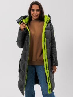 Женская зимняя куртка изумруд