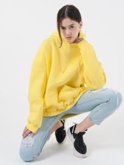 Толстовка женская с капюшоном Желтый