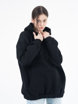 Толстовка женская с капюшоном Черный