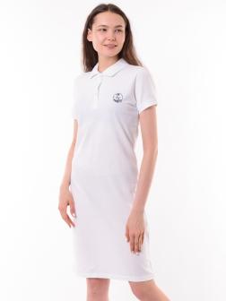 Платье-поло Белый