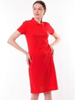 Платье-поло Красный