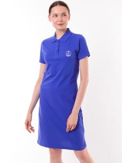 Платье-поло Ярко-синий