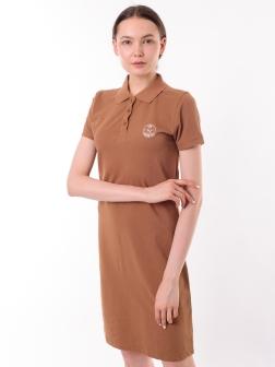Платье-поло Коричневый