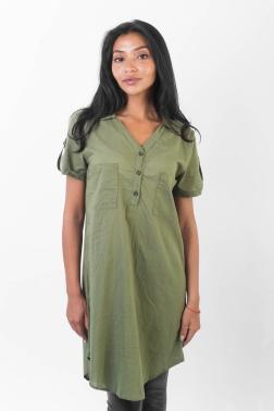 Рубашка женская Темно-зеленый
