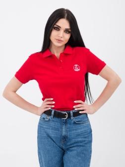Футболка - поло женская Красный