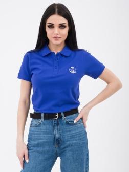Футболка - поло женская Ярко-синий