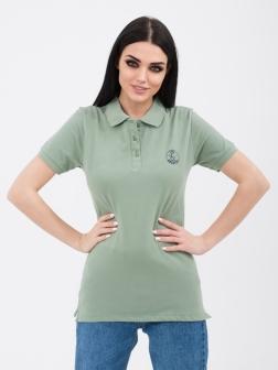 Футболка - поло женская зеленый