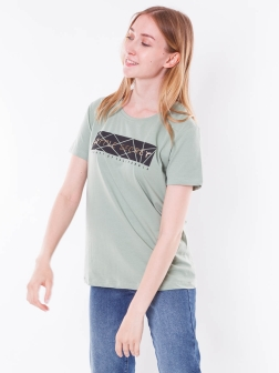 футболка женская зеленый