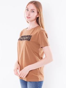 футболка женская Коричневый