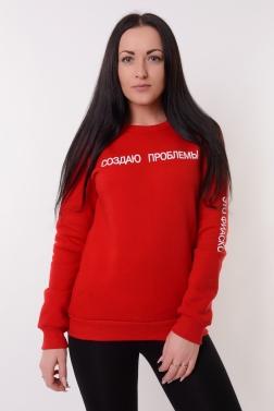 Толстовка женская Красный