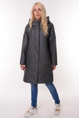 Женская демисезонная куртка СЕРО-СИНИЙ