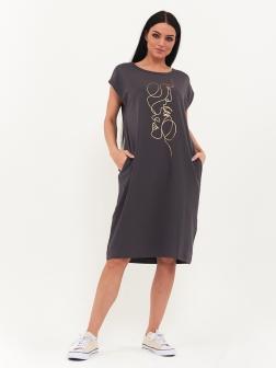 женское платье темно-серый