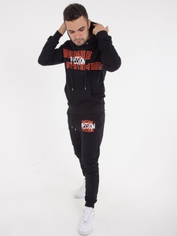 спортивный костюм с капюшоном Черный