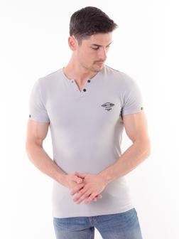 футболка мужская светло-серый