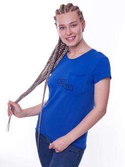 футболка женская  Голубой