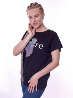 футболка женская  Черный