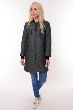 Женская демисезонная куртка СЕРО-ЗЕЛЕНЫЙ