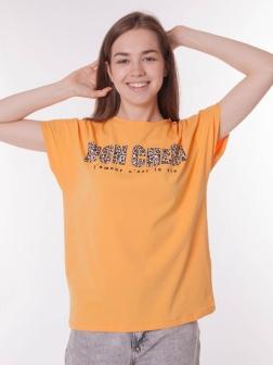 футболка женская Оранжевый