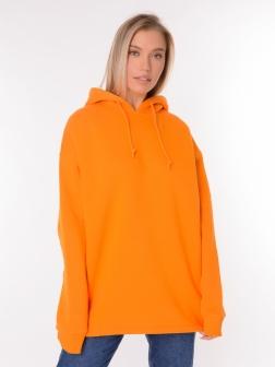 Толстовка женская с капюшоном Оранжевый