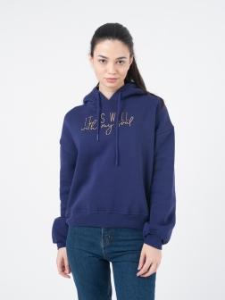 Толстовка женская с капюшоном Фиолетовый